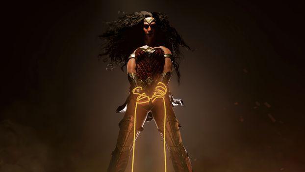 Заставки Чудо-женщина, супергерои, художник