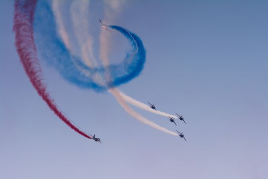 Photo free aircraft, air show, Patrouille de France