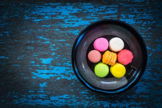 Бесплатные фото синий,тарелки,красочные,сладости,продукты питания