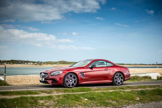 Photo free side view, cars, mercedes sl class