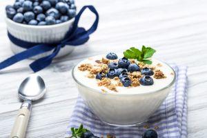 Бесплатные фото yoghurt muesli,berries,yagody,завтрак