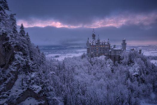 Фото бесплатно Германия, замок Нойшванштайн, Альпы