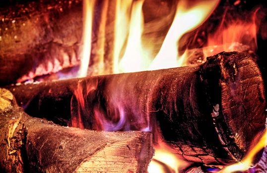 Фото бесплатно костёр, дрова, огонь