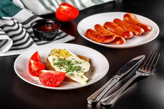 Photo free knife, food, tomatoes