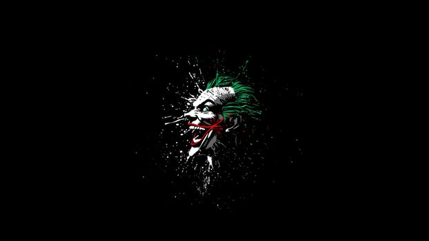Photo free Joker, black background, figure