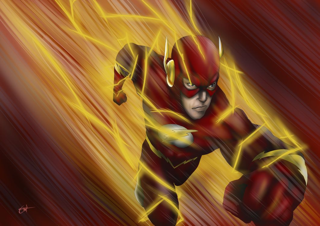 Фото бесплатно The Flash, художник, художественное произведение - на рабочий стол