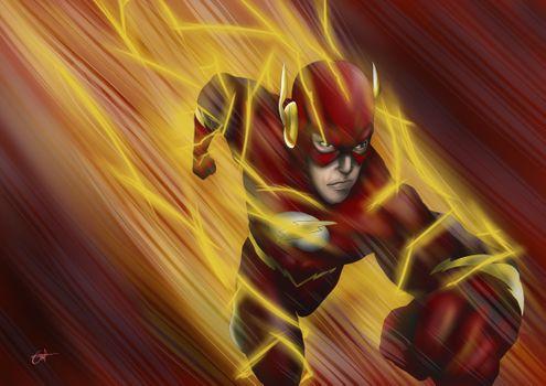 Photo free The Flash, artist, artwork