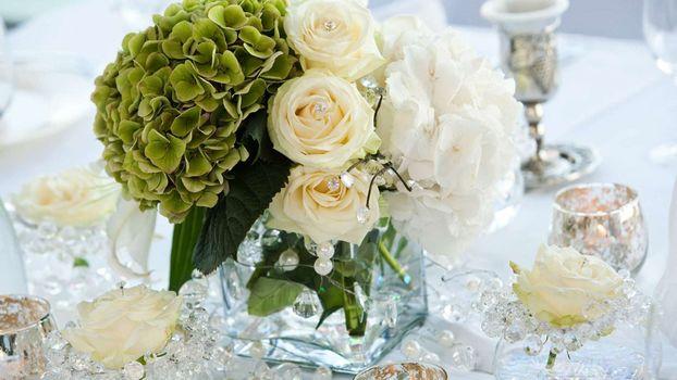 Фото бесплатно декор, букет, розы
