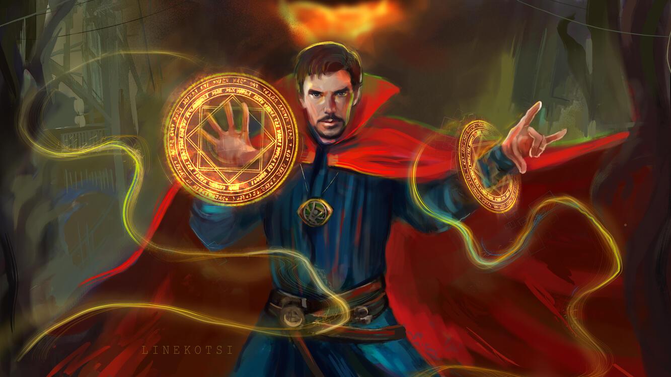 Фото супергерои девиант арт врач стрэндж - бесплатные картинки на Fonwall