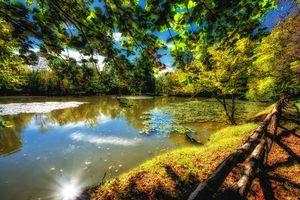 Осень бесплатные, водоём красивые обои на рабочий стол