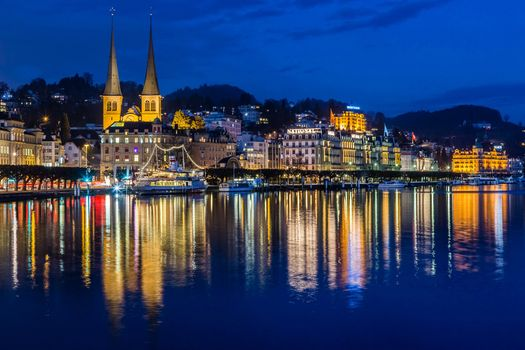 Photo free night, Lucerne, city