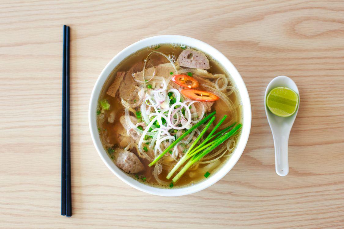Фото бесплатно азиатская кухня, суп, лук - на рабочий стол