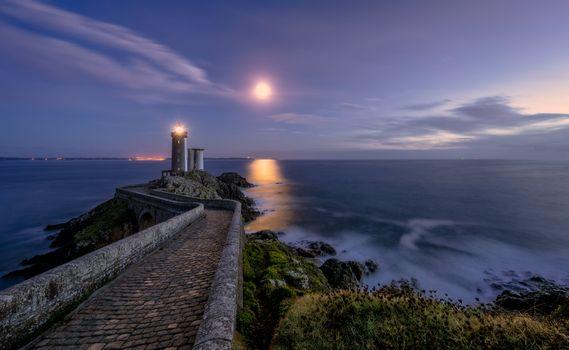 Photo free Brittany, France, sunset