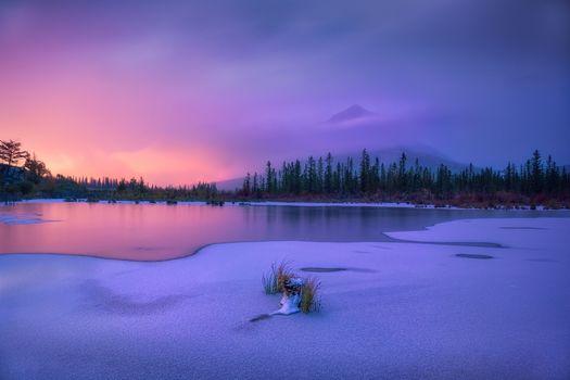 Заставки рассвет, зима, лёд