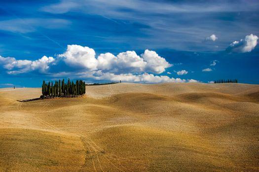 Фото бесплатно Тоскана, Италия, холмы