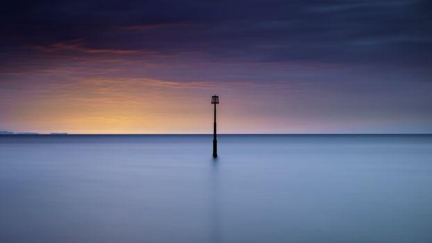 Фото бесплатно одинокий столб, восход, горизонт