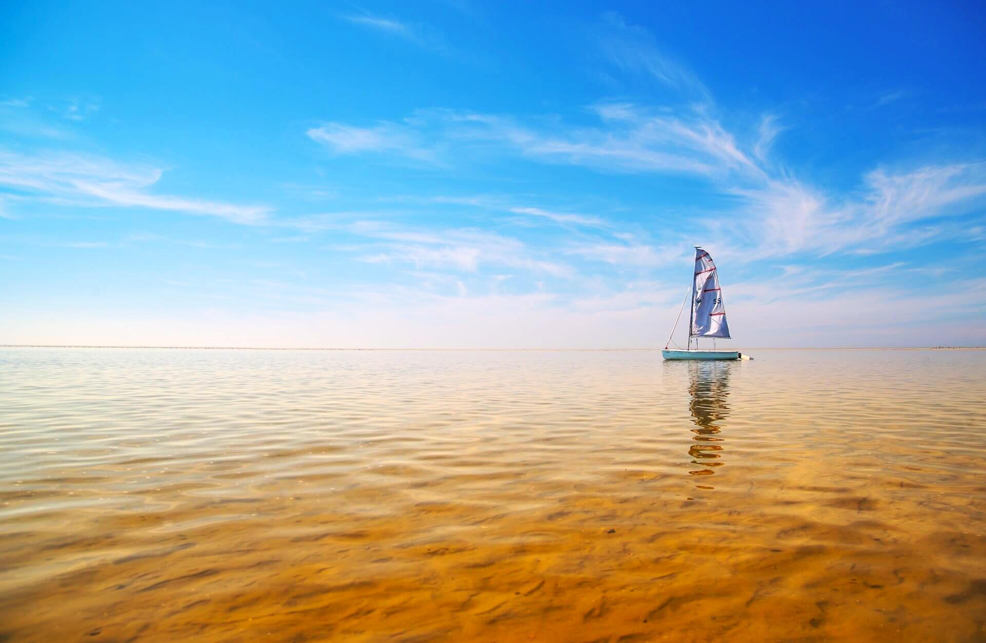 Обои море, яхта, пейзаж