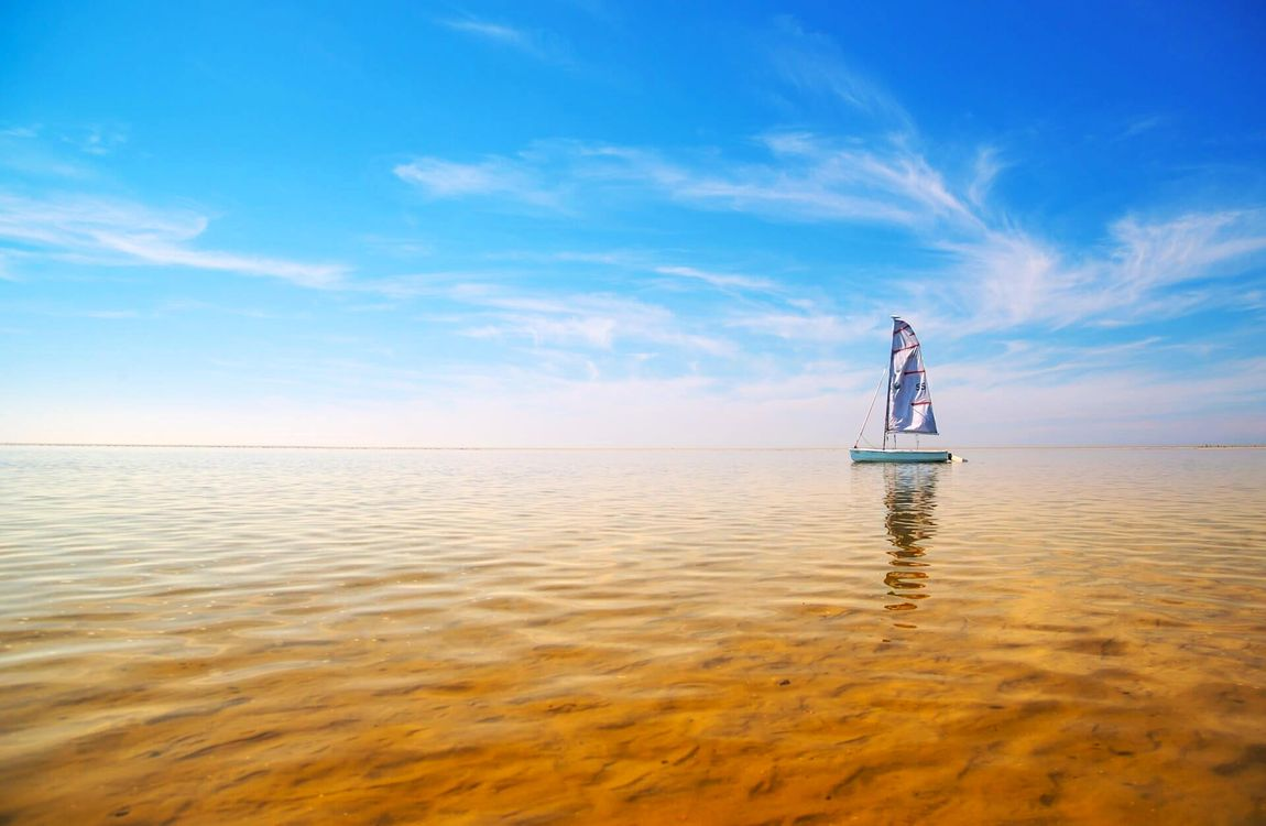 Фото бесплатно море, яхта, пейзаж, пейзажи