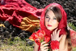Фото бесплатно растение, девушка, женщина