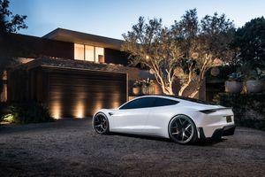 Фото бесплатно Tesla Roadster, Тесла, автомобили 2018 года