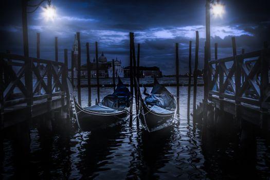 Фото бесплатно лодки, фонарь, вода