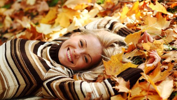 Фото бесплатно лицо, листья, люди