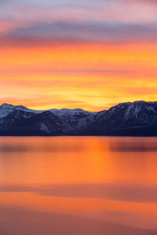 Фото бесплатно горы, рассвет, море, горизонт, mountains, dawn, sea, horizon, пейзажи