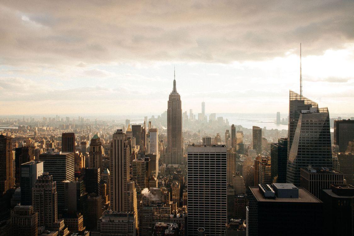 Фото бесплатно Empire State Building, Нью-Йорк, здание - на рабочий стол