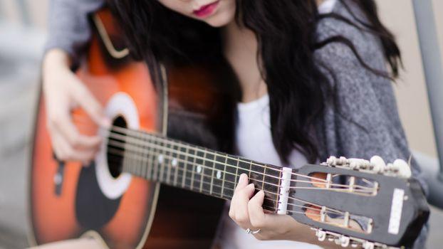 Photo free Guitar, music, Girl