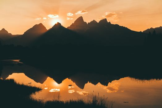 Photo free mountains, landscapes, silhouette
