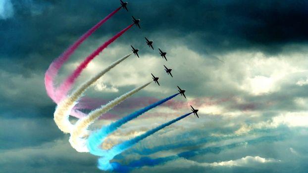 Фото бесплатно солнце, авиация, небо