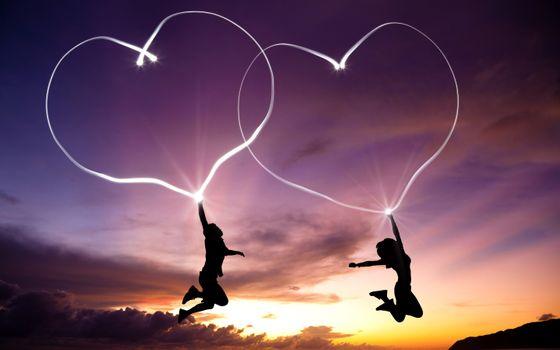 Фото бесплатно сердце, любовь, празднование