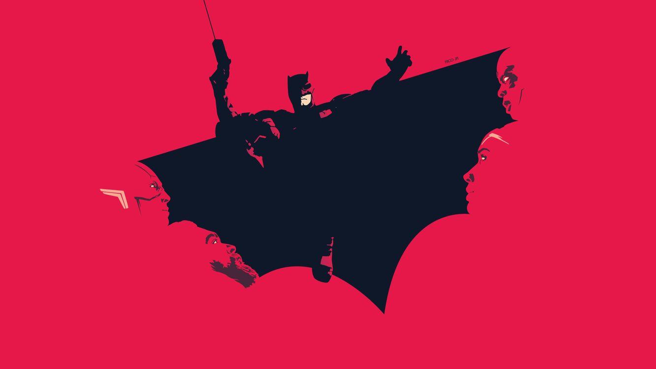 Фото бесплатно Лига справедливости, Бэтмен, цифровое искусство - на рабочий стол