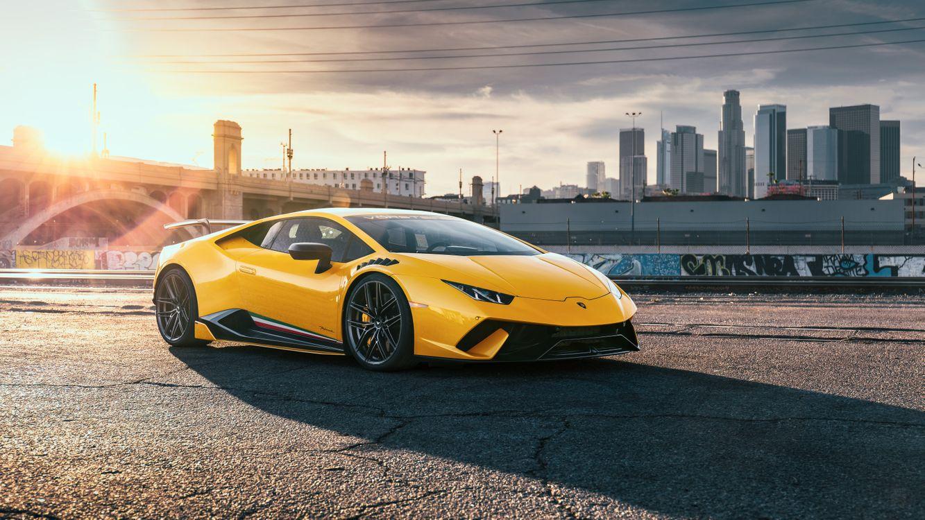 Фото бесплатно Lamborghini Уракан бонусных машин, суперкары, желтый - на рабочий стол