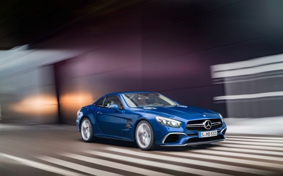 Photo free Mercedes, blue, Mercedes Benz