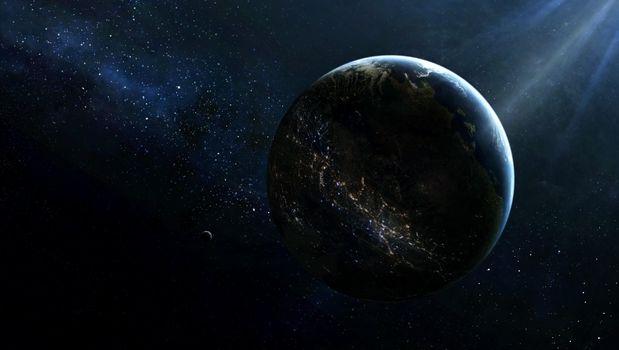 Photo free planet, satellite, lighting
