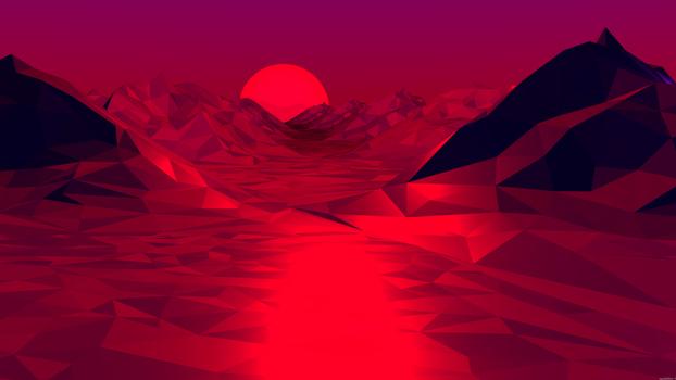 Бесплатные фото красный,абстрактный,низкий поли,темный,цифровое искусство,тень,темный фон,восход солнца