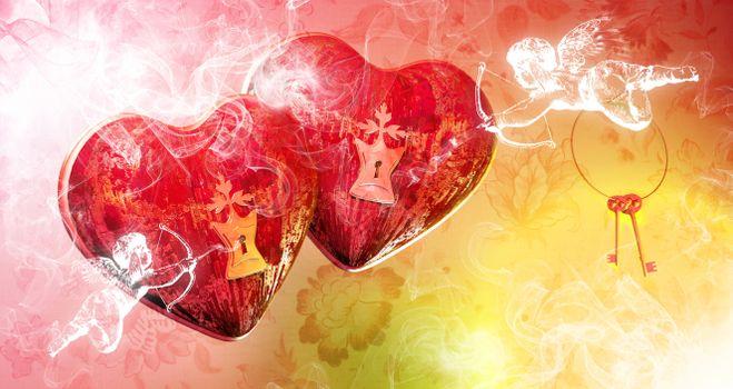 Photo free red, cupid, romance