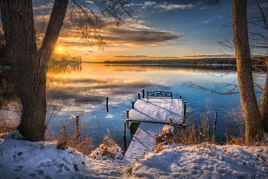 Фото бесплатно причал, озеро, природа