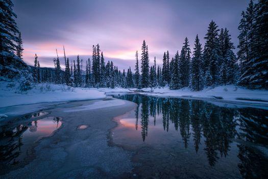 Заставки Канада, зима, река