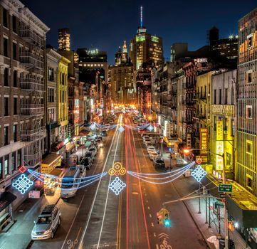 Бесплатные фото Main Street,Los Angeles,California,Лос-Анджелес,Калифорния,сша,город,ночь,огни,дорога,дома,иллюминация