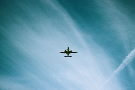The plane in the sky · free photo