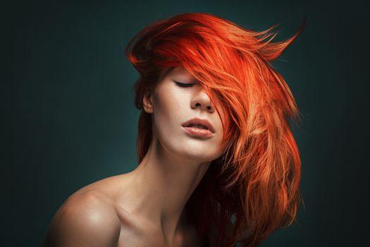 Photo free face, woman, redhead