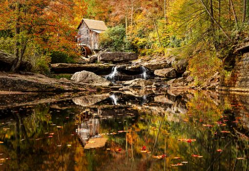 Photo free Glade Creek Grist Mill, West Virginia, Windmill at Glade Creek