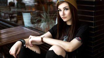 laura henning, модель, брюнетка, длинные волосы, германия