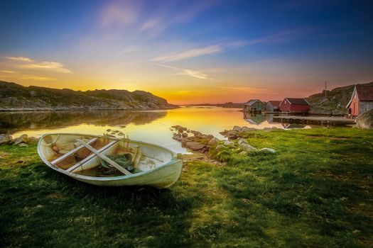 Фото бесплатно пейзаж, закат, пруд