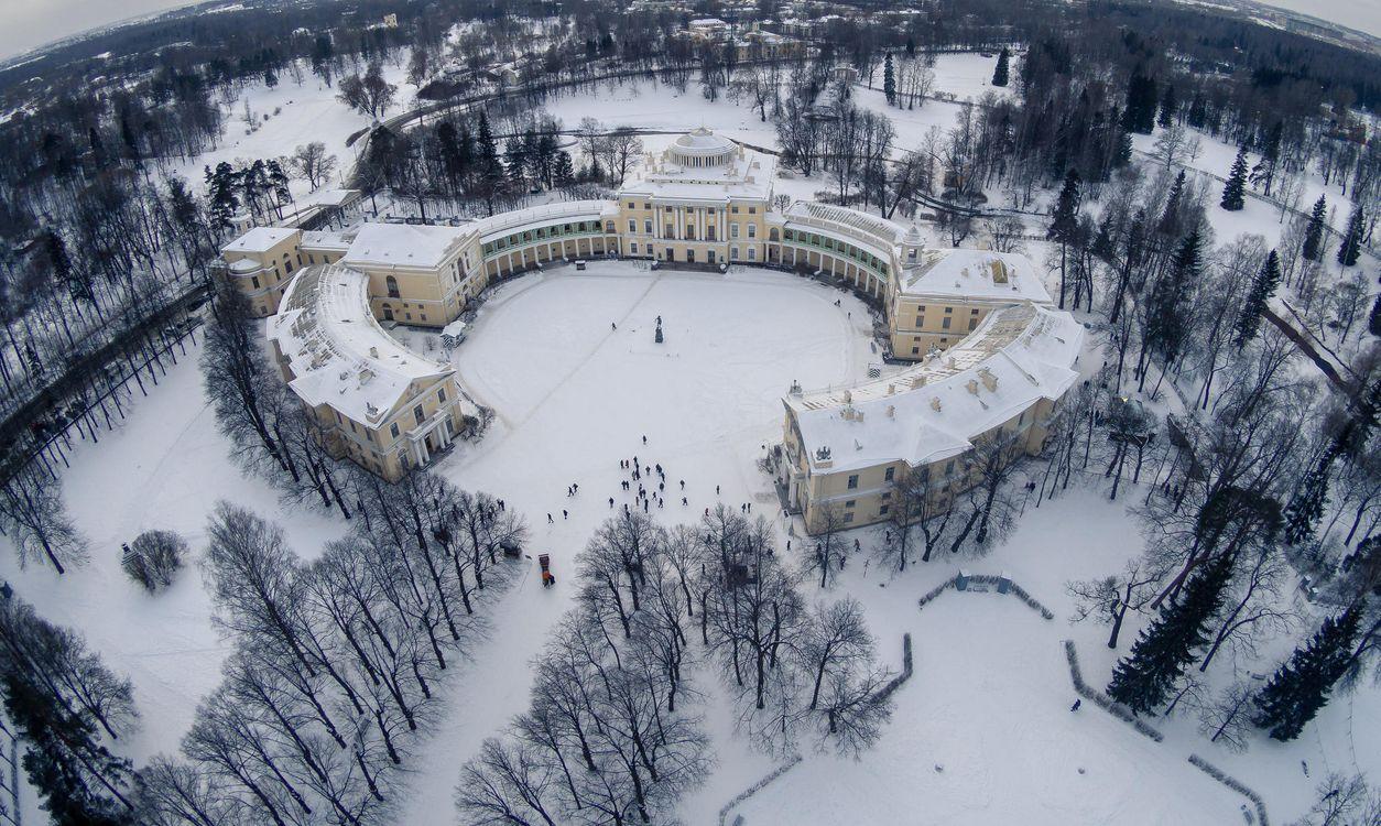 Фото бесплатно Павловский парк, Павловский дворец, Pavlovsk - на рабочий стол
