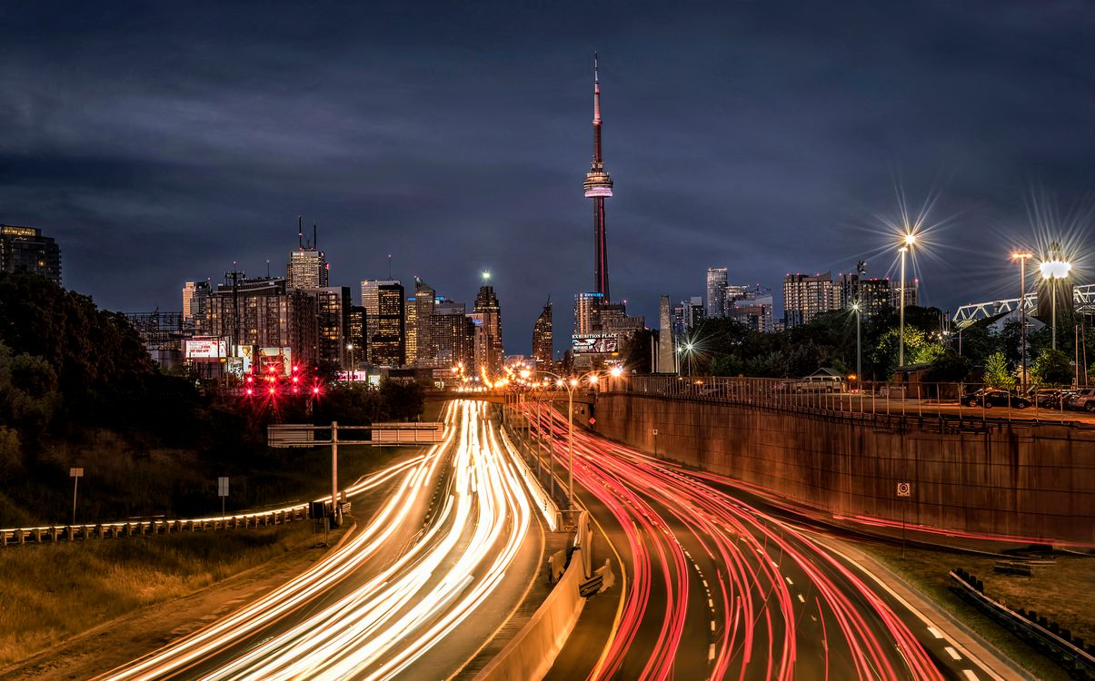 Фото бесплатно Канада, ночь, город - на рабочий стол