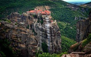 Бесплатные фото Greece,Meteora,Монастыри Метеоры,Греция,Метеора