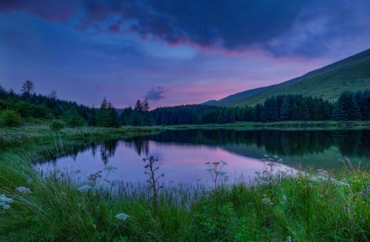 Photo free National Park Brecon Beacons, Wales, sunset